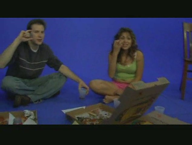 Sexy Latina & Her Blue Screen Pizza Party – Part 14