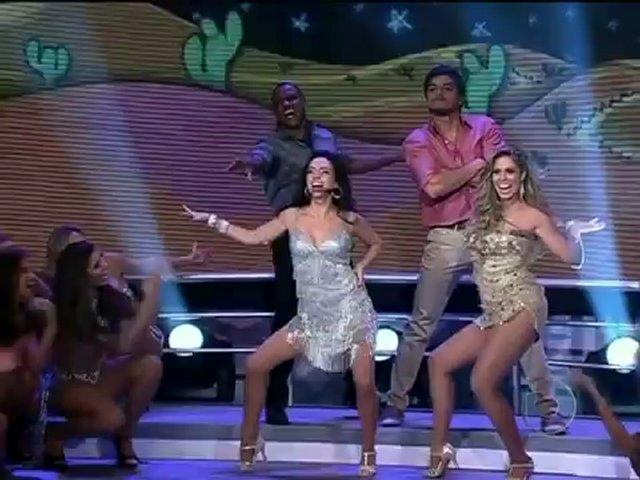 Domingão do Fausto   Rodrigo Simas e Claudia Ohana relembram a grande final do Dança dos Famosos e dançam com seus professores