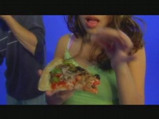 Sexy Latina & Her Blue Screen Pizza Party – Part 1