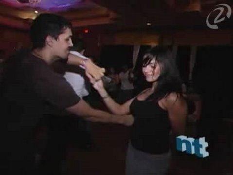 Sexy Salsa Dancing at Night Club