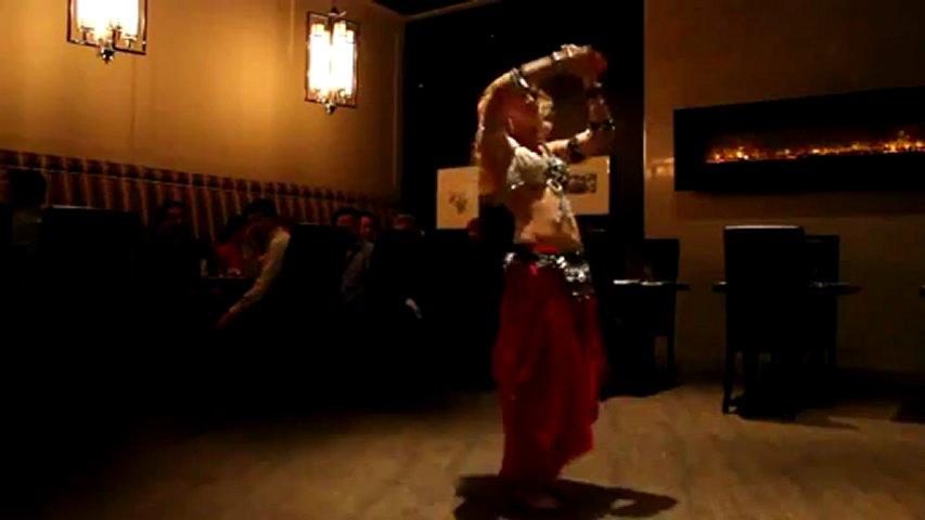 Beautiful Belly Dancer Restaurant Dance
