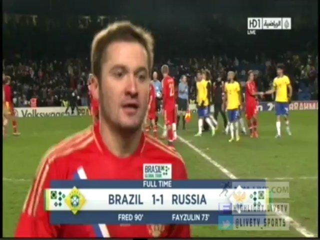 Brazil 1 – 1 Russia 25/03/2013 HIGHLIGHT goal