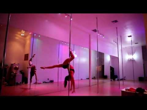 Leigh Ann Pole Dance at BeSpun Sunset Strip Grand Opening Party
