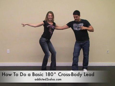 Salsa Dancing Cross Body Lead 180