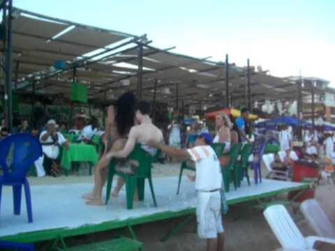 Lap dance/Venezuela girl giving Virgin Boy a sexy lap dance
