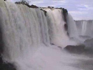 Massive Iguazu Falls, Argentina-Brazil Border