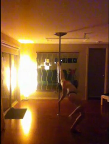 Pole dancing practice 4/10