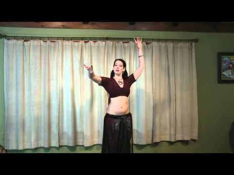 Tribal Belly Dance Lessons: Hip Bump / Pivot Bump part 1