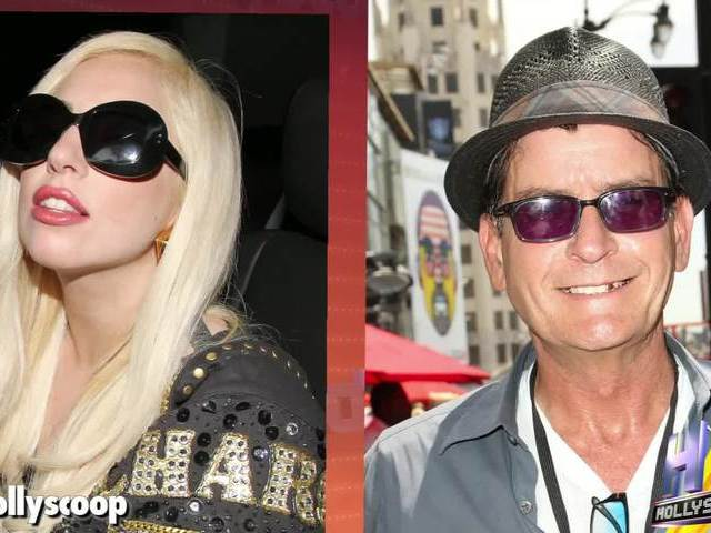 Lady Gaga Wanted To Give Lap Dance Charlie Sheen With Britney Spears