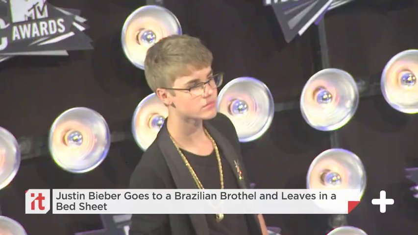 Justin Bieber Goes To A Brazilian Brothel And Leaves In A Bed Sheet
