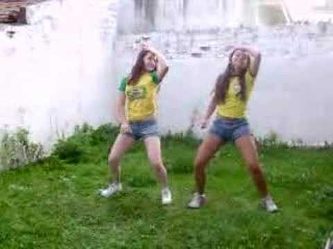 Brazilian teenage girls dancing