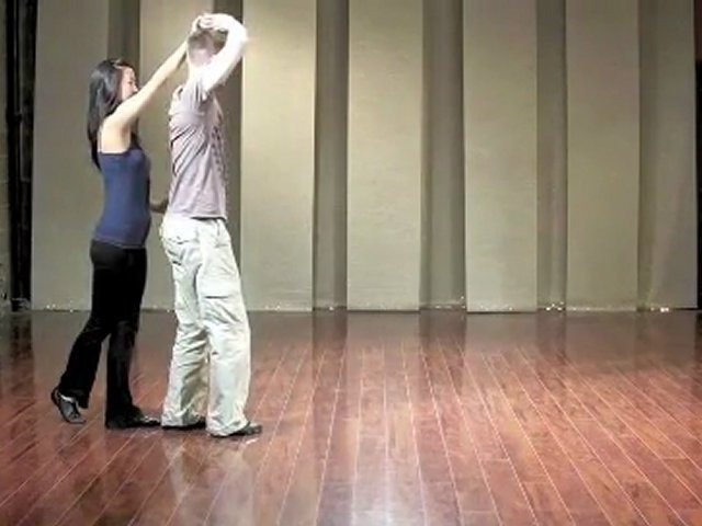 Advanced Salsa Dancing Lesson: Right to Right Cross Body Lead, Arm Toss, Hand Illusion Arm Toss