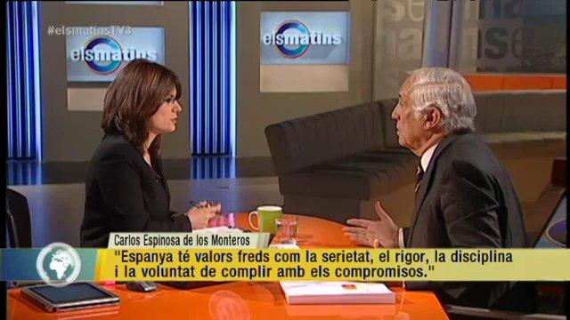 """TV3 – Els Matins – Espinosa de los Monteros: """"Ningú creu que l'escenari final del conflicte actual"""
