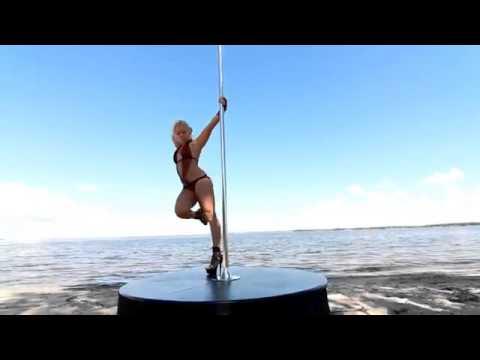 Anastasia Sokolova   Perform Pole Dance On The Beach   YouTube