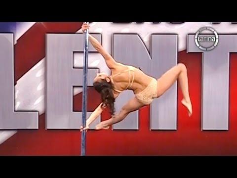 Peru Tiene Talento 18-08-13 Ximena Riveros hace POLE DANCE y cautiva al jurado y al publico