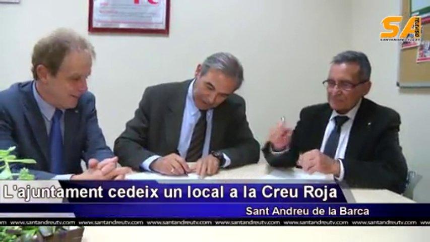 211113 L'Ajuntament de Sant Andreu de la Barca cedeix un local a la Creu Roja