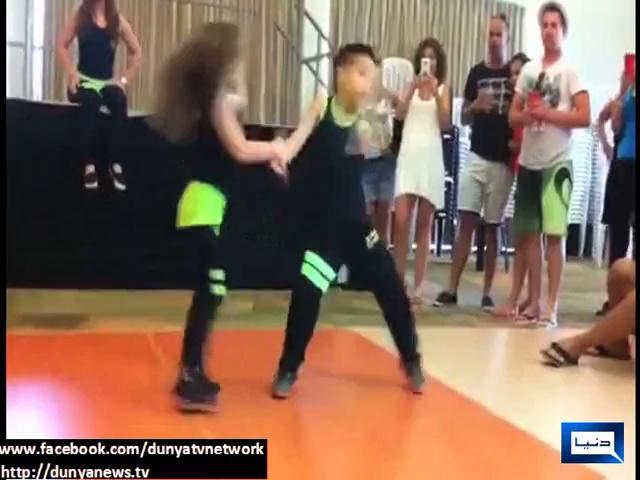 Kids perform amazing salsa dance
