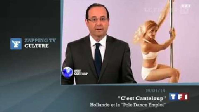Zapping TV : François Hollande invente le «Pole Dance Emploi»