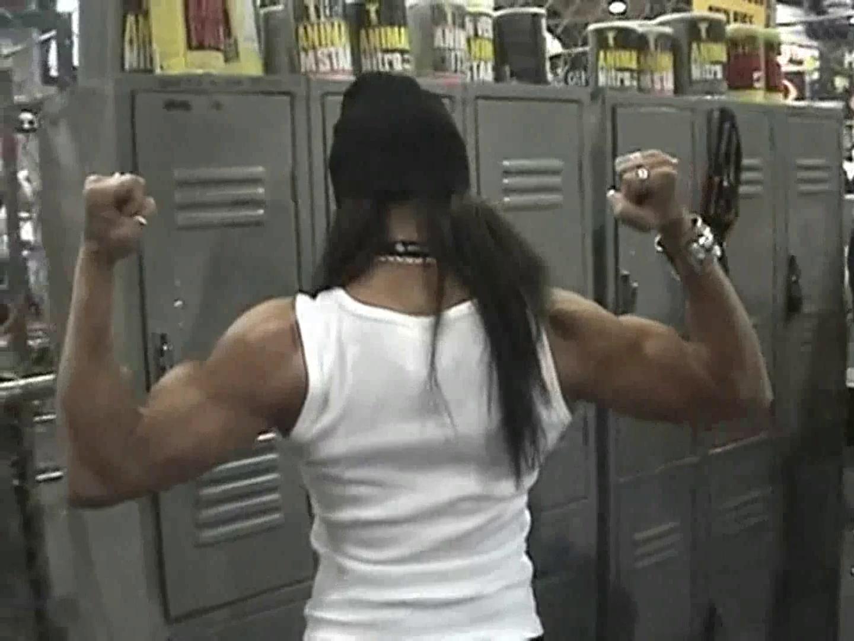 Latina Girl Flexing Awesome Biceps