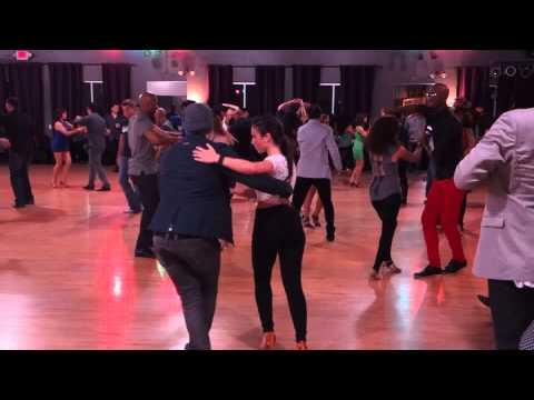 Salomon & Jessica Szota social dance at Salsa Dura Houston