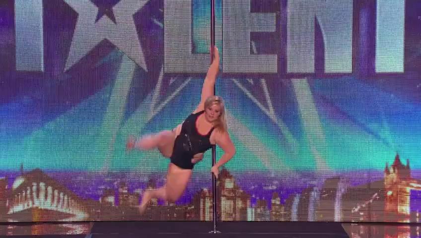 A pole-dancing masterclass from Emma Haslam – Britain's Got Talent 2014