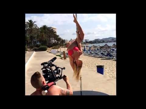 Sokolova Anastasia Pole Dance at Beach 2014