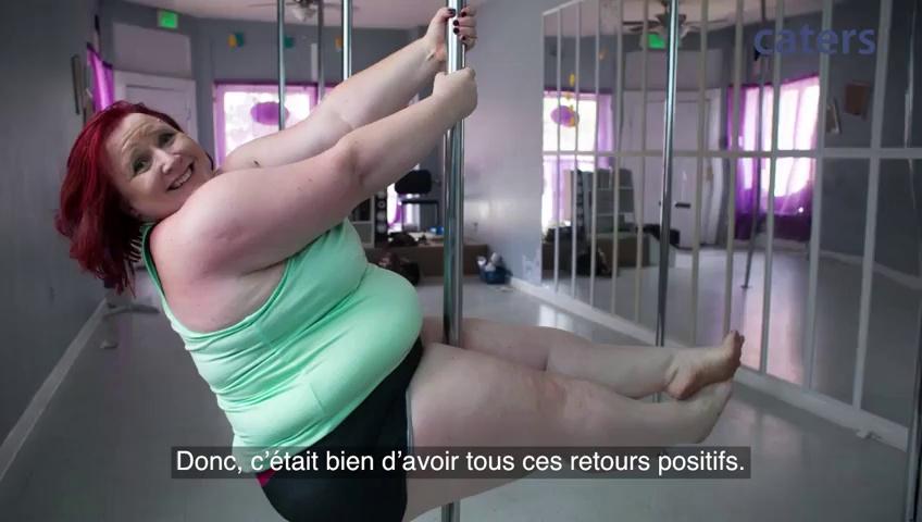 Cette femme de 114 kg fait du pole dance