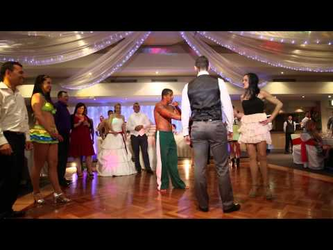 28 10 2012 Jon & Bianca's wedding video clip Brazil dance