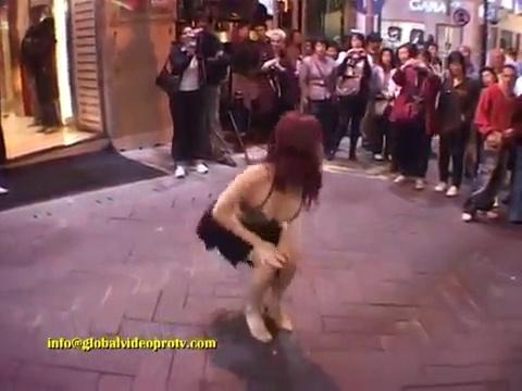 Sensual Dancer On Street, Salsa Festival, Hong Kong