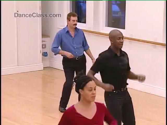 Salsa Dance Basic Side Step to Music 822