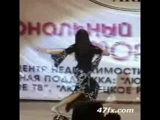 Enjoy Cute Babe Performing Arab Belly Dance!