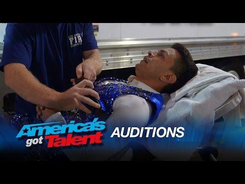 Semeneya: Dancer Pops Knee Out During Salsa Routine – America's Got Talent 2015