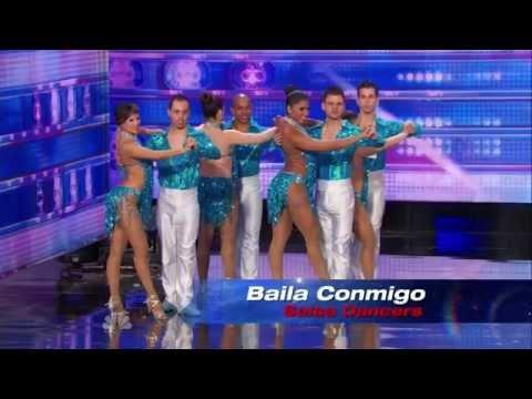 America's Got Talent S09E04 Baila Conmigo Dance Troupe performs a Fast Paced Columbian Salsa