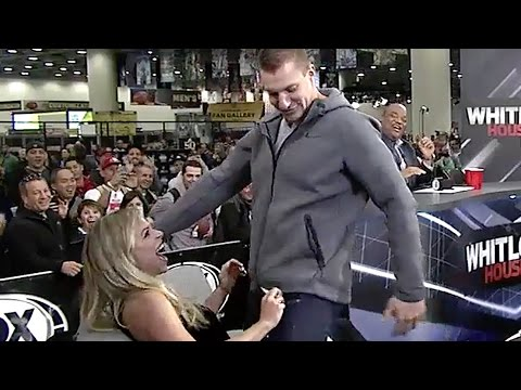 Rob Gronkowski Gives Lap Dance to Hot Fox Sports Anchor