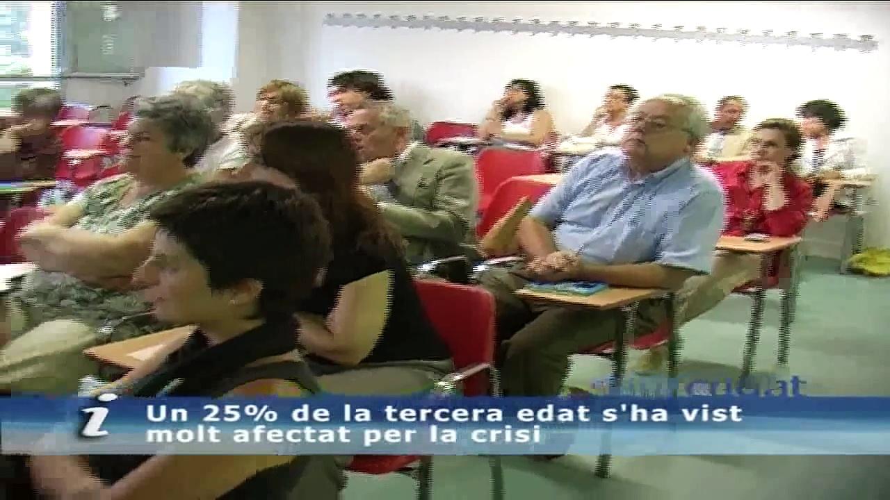 Un 25% de la tercera edat s'ha vist molt afectat per la crisi econòmica, segons la Creu Roja