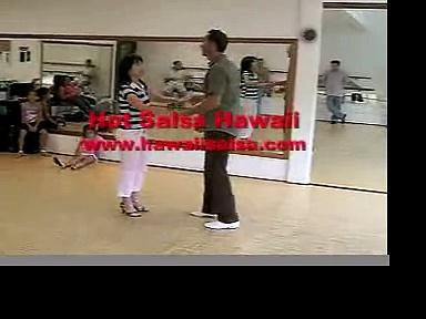 Hot Salsa Hawaii Beginner dance class 10/04/07