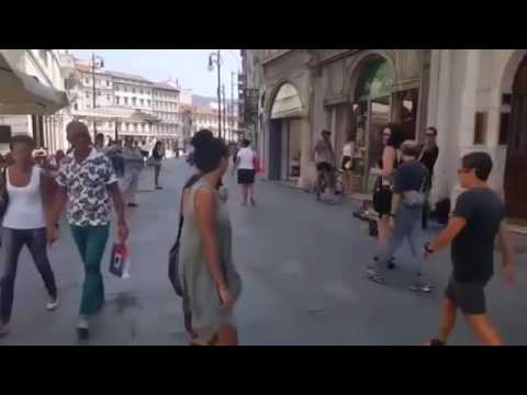 Arab Dad Encourages His Daughter to Dance