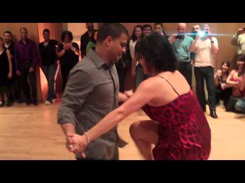 Melanie Torres and Gabriel Perez salsa dancing @ The Dance On 2 Holiday Party: 12/4/11