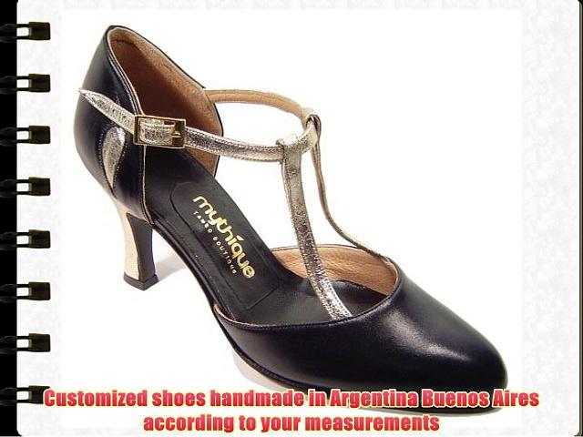 Mythique Women's Tango Ballroom Salsa Latin Leather Dance Shoes Julia 10 UK
