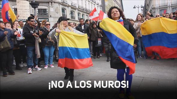 La comunidad latina de Madrid, contra el muro de Trump