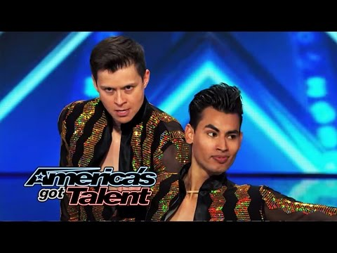 John & Andrew: Same-Sex Salsa Couple Get Howard Stern & Howie Mandel to Dance – America's Got Talent