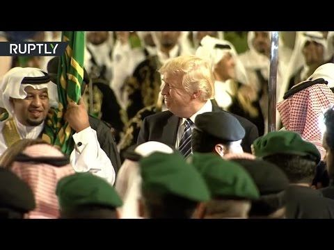 Saudi Night Fever: Trump steps out with traditional Arabian sword dance
