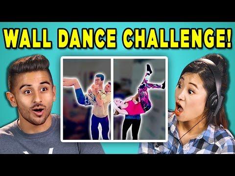 ADULTS REACT TO WALL DANCE CHALLENGE (#DabkeChallenge   Arab Dance)