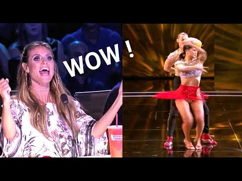 Human Fidget Spinner Salsa Dancers On Agt 2017 judge Cuts