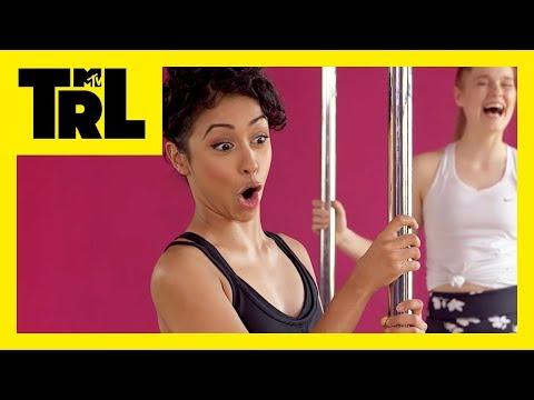 Liza Koshy Tries Pole Dancing | TRL Weekdays at 4pm