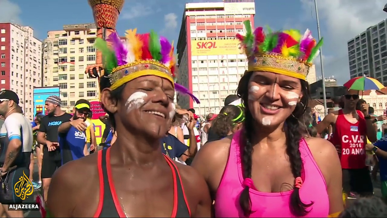 Party time in Brazil: Dancing away troubles at Carnival