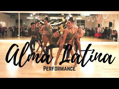 Alma Latina Dance Company @IESocial 1/20/18 Bachata Performance