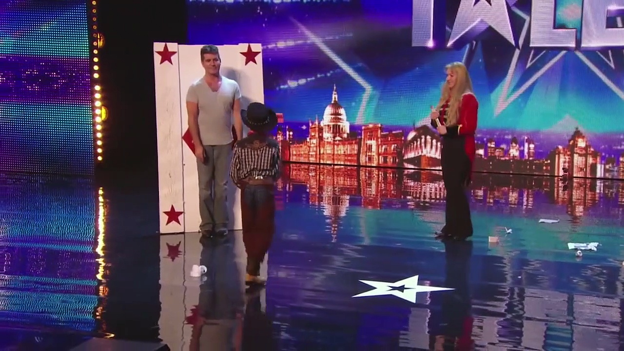 Simon Cowell's Got Talent! _ Knife Throwing, Lap Dancing &