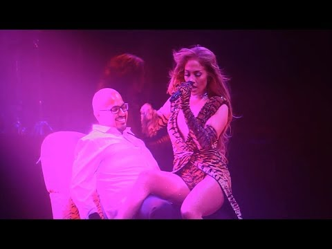 Jennifer Lopez Surprises Fan With A Lap Dance (It's My Party Tour 2019)