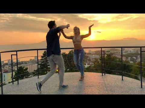 AMAZING SALSA Dance With Most Beautiful Sunset View!